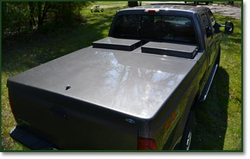 Ford F350 tonneau cover and tool boxes