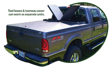 Truck Lidz tool box covers open